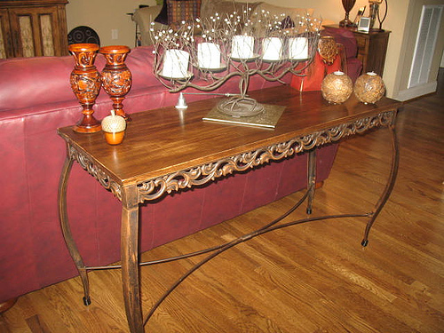 Stupendous Tutorial Replacing A Glass Topped Sofa Table With A Stained Machost Co Dining Chair Design Ideas Machostcouk