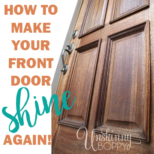 How to polish your wood front door - if your front door has lost it's shine, polish some new life into with with just a few easy steps.