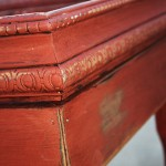 distressing furniture with caromal colors