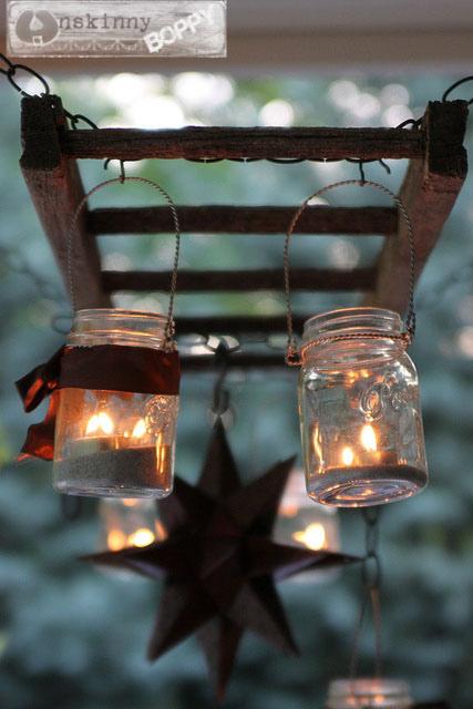 patio table hanging lanter