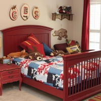 woodland camping themed boys bedroom