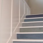 diy painted staircase with multicolored steps