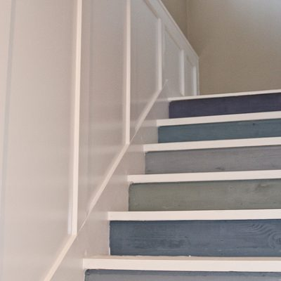 DIY Painted Staircase Before and After