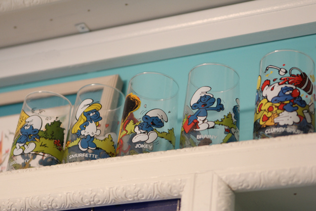 smurf glasses from the 80s