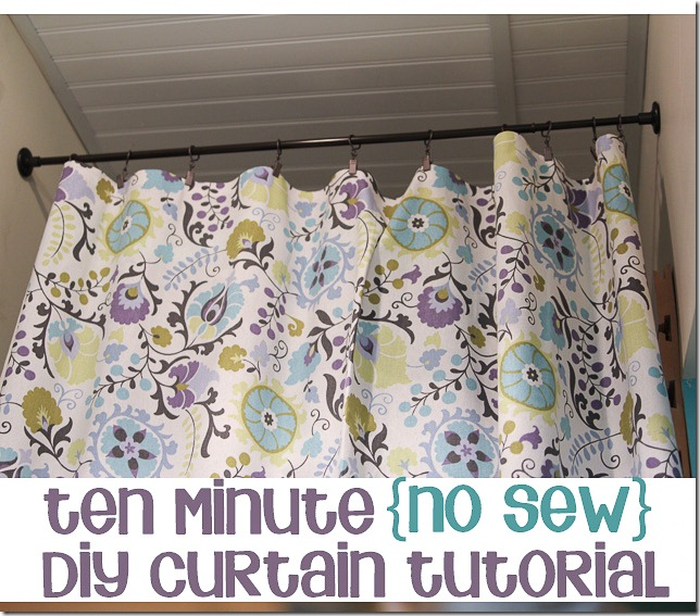 A 10 minute no sew diy curtain tutorial 1