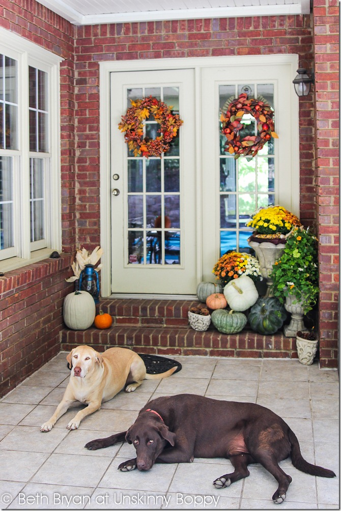 Fall Porch Decor-2 & Decorating the back front porch for Fall - Unskinny Boppy