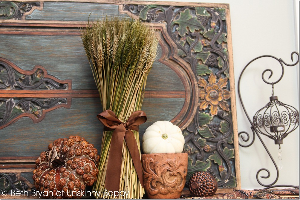 Fall and Thanksgiving Mantel decorating ideas-4