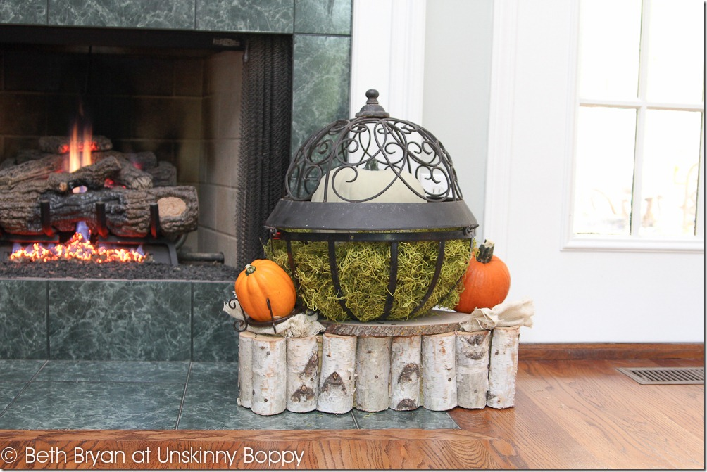 Fall and Thanksgiving Mantel decorating ideas-5