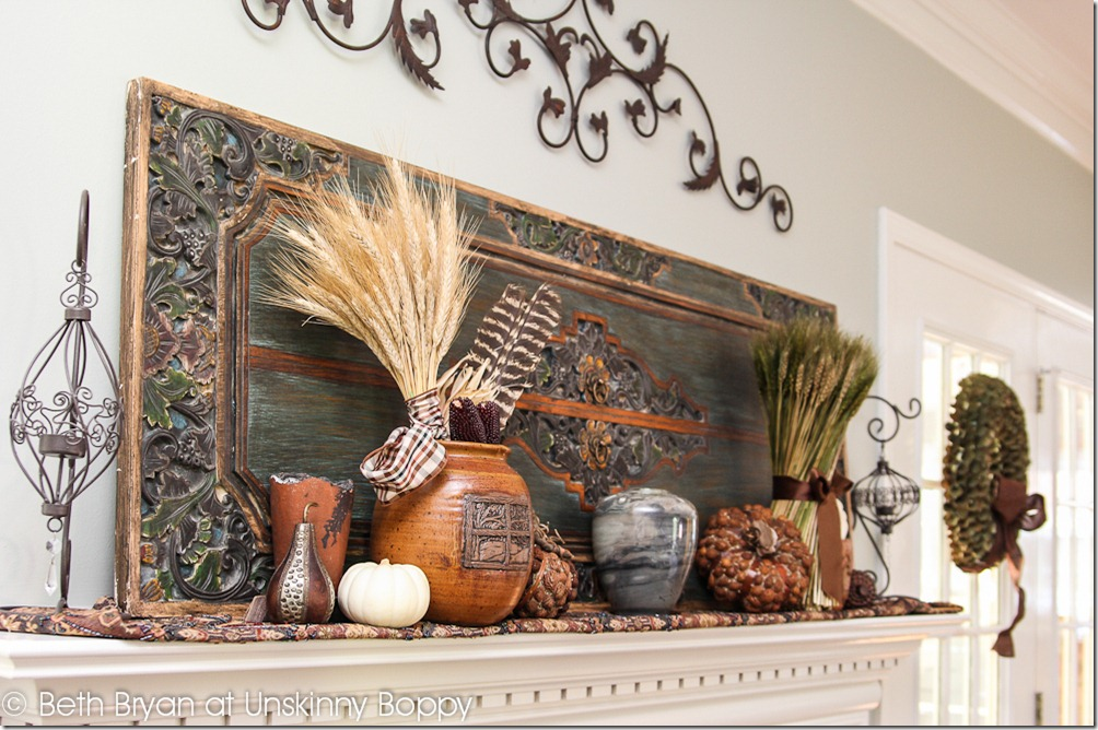 Fall and Thanksgiving Mantel decorating ideas-7