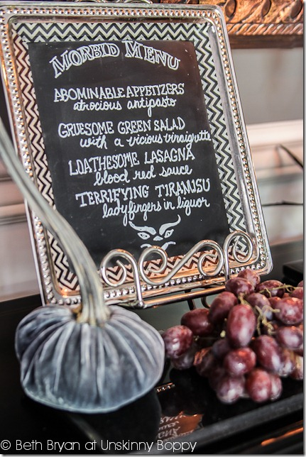 halloween decoration ideas- morbid menu
