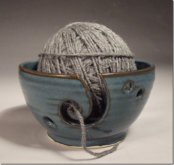 pottery yarn ball holder