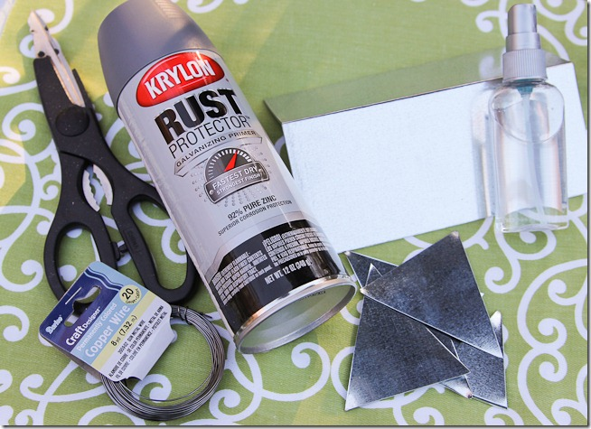 Faux DIY Galvanized bunting tutorial  (1 of 16)