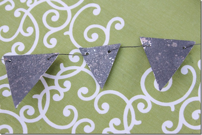Faux DIY Galvanized bunting tutorial  (10 of 16)