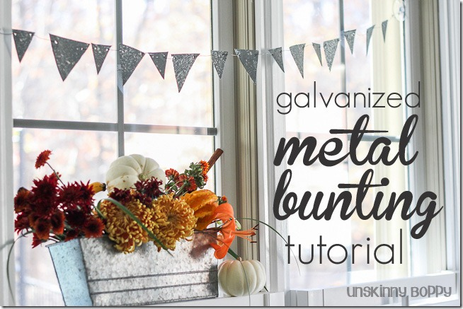 Faux DIY Galvanized bunting tutorial