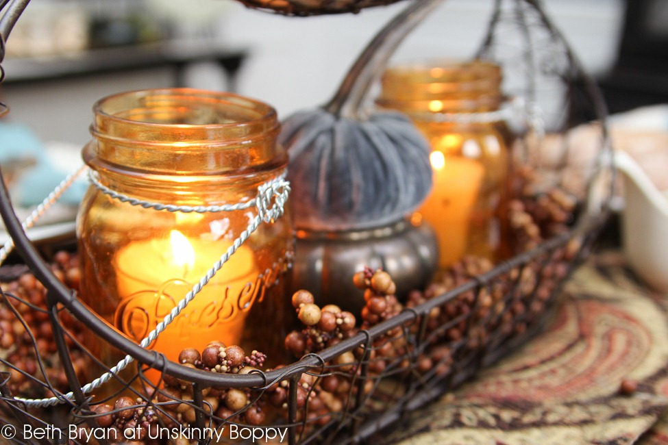 Kirklands Candle Centerpiece : Setting a thanksgiving table with kirkland s unskinny boppy
