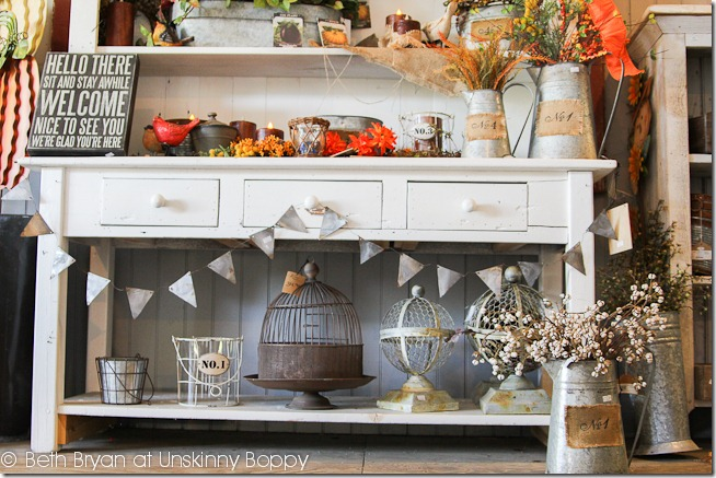 Store display with galvanized bunting (1 of 1)
