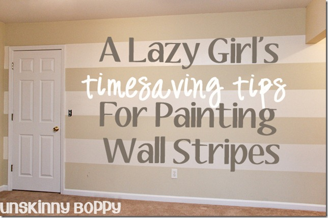 Time Saving Tips For Painting Wall Stripes A Step By Tutorial