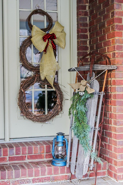 The Rustic Christmas Porch Unskinny Boppy