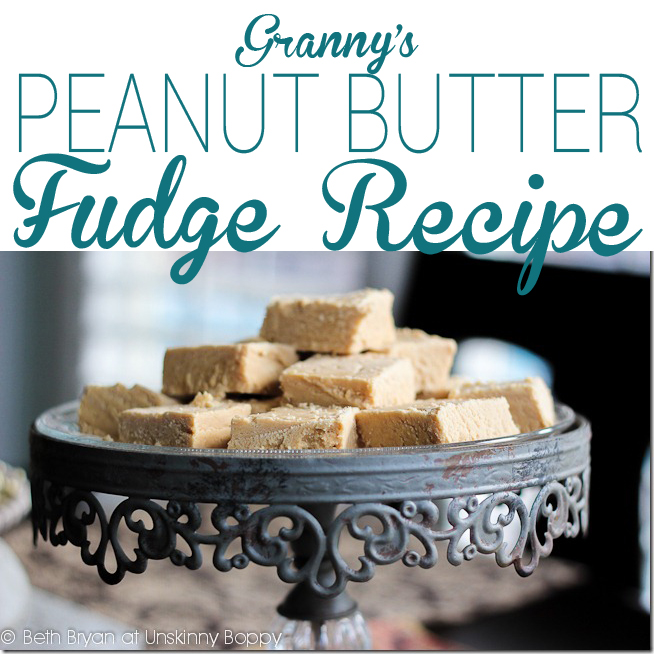 Granny's Peanut butter fudge recipe