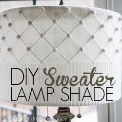 DIY Lampshade Tutorial using a Sweater