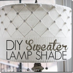 How to DIY a sweater lamp shade