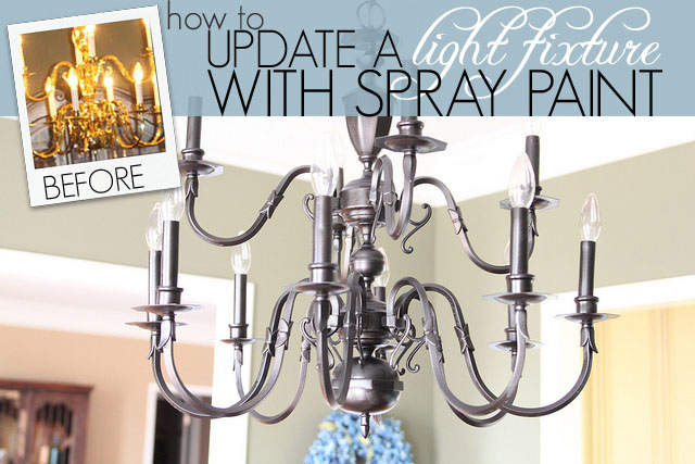 How to update a light fixture with spray paint