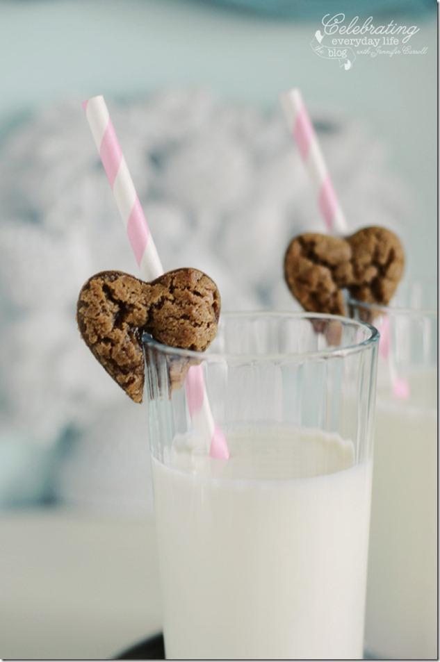 Gingerbread Valentine cookies