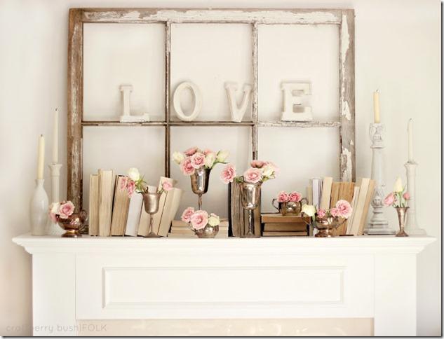 Valentine's Mantel decor