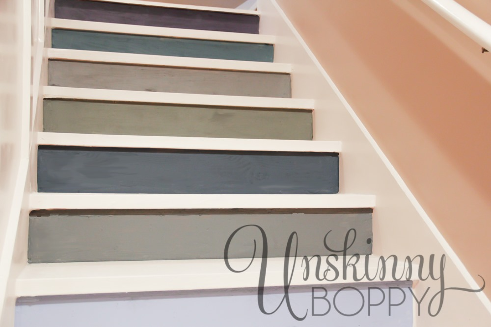 painted basement steps with board and batten unskinny boppy. Black Bedroom Furniture Sets. Home Design Ideas
