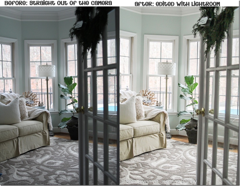 Before and after photos edited with my custom lightroom settings.