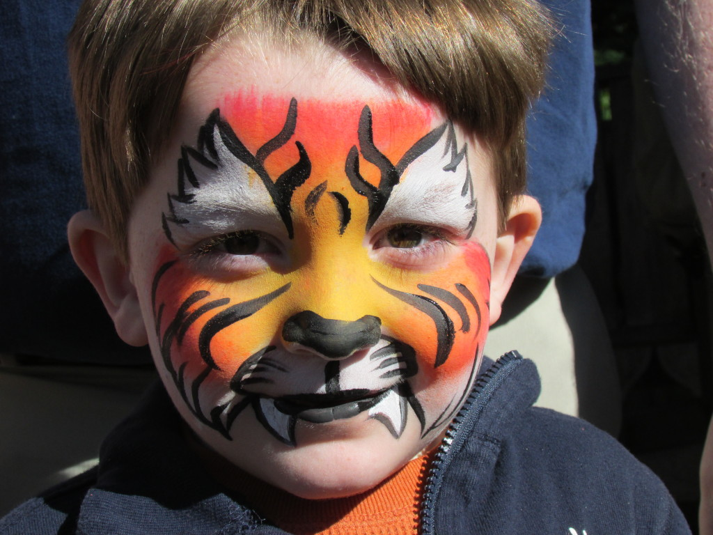 Easy tiger face paint - photo#20