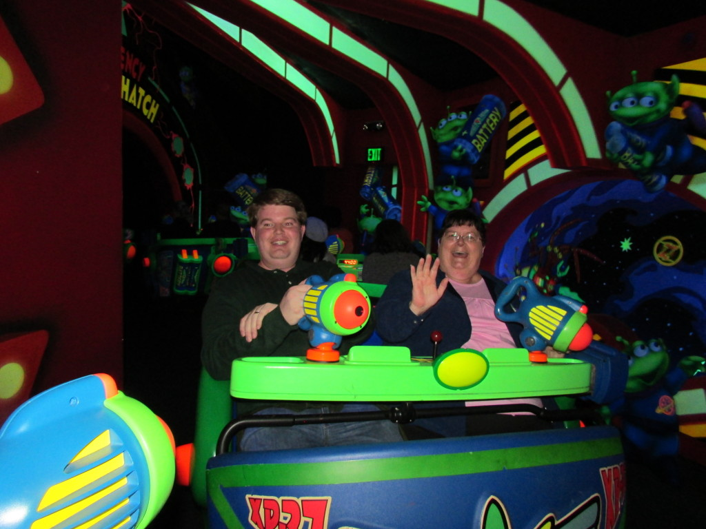 Best rides and attractions for five year olds at Disney - the Buzz Lightyear ride was a hit with the whole family!