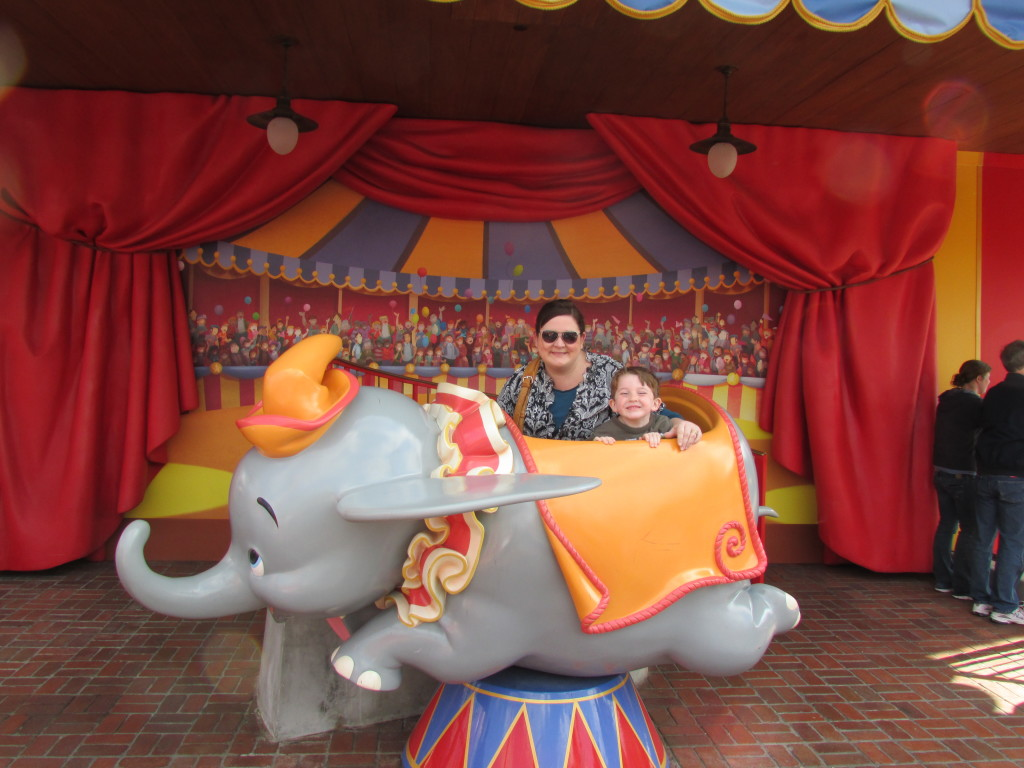 Best rides and attractions for five year olds at Disney - Garrett loved Dumbo, he had so much fun on this ride!