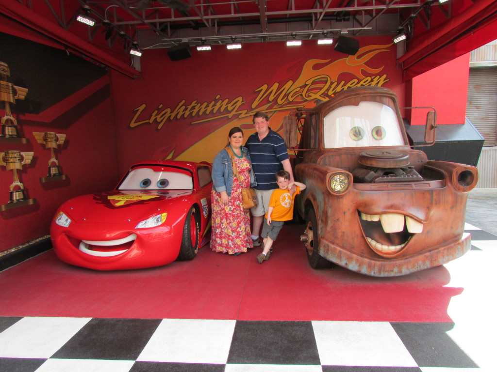 Mater and Lightning McQueen at Hollywood Studios