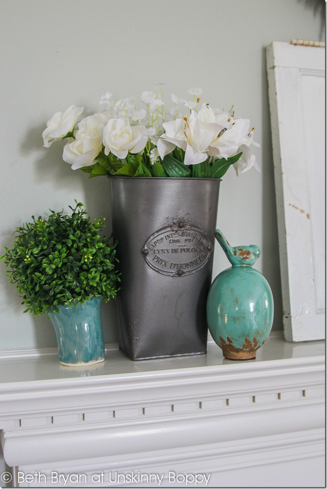 Spring Mantel Decor-2