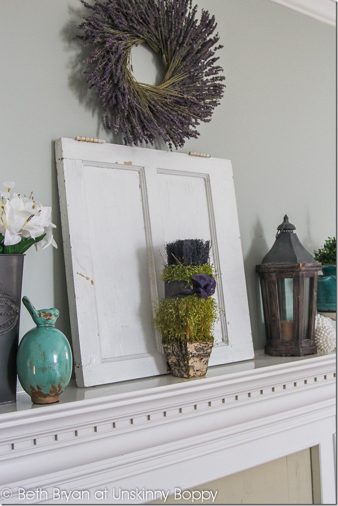Spring Mantel Decor-3