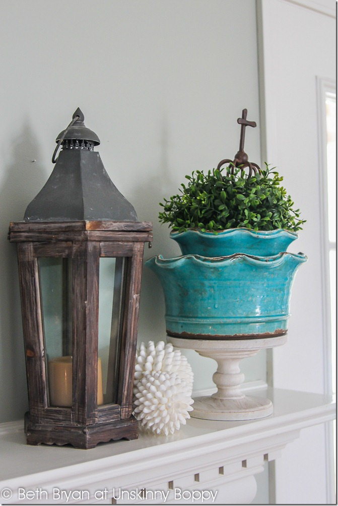 Spring Mantel Decor-4