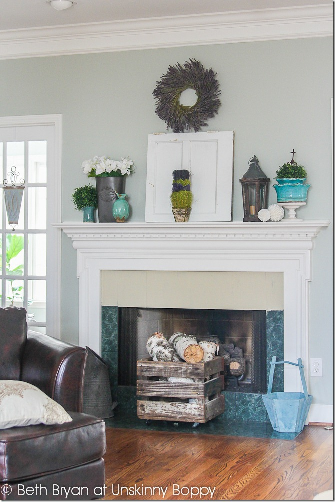 Spring Mantel Decor 5