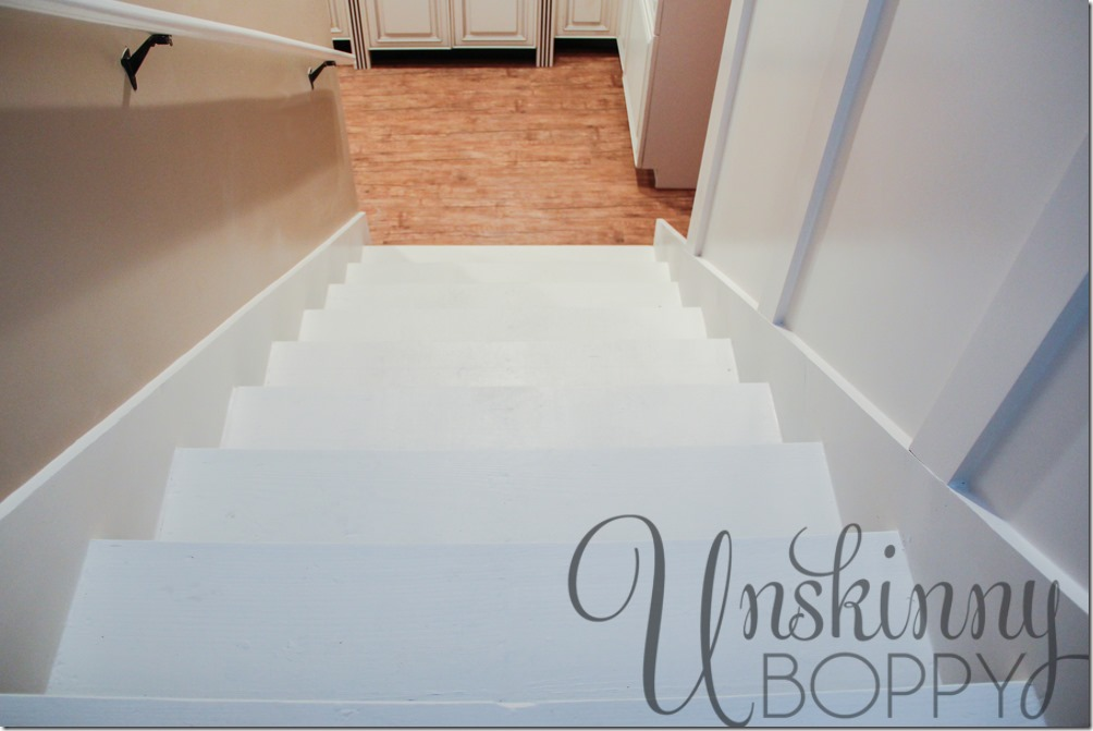 painted stairs to basement