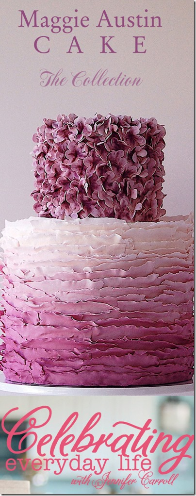 Celebrating Everyday Life Magazine- purple ombre cake