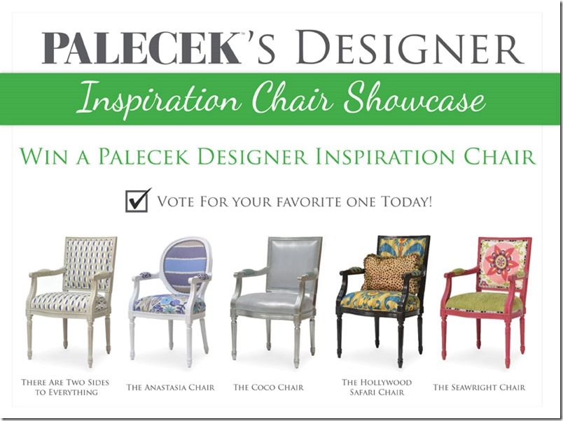 Want to Win One of PALECEK's Designer Inspiration Chairs? Starting now through April 19th, follow this pin and vote for your favorite chair for your chance to win your favorite PALECEK Designer Inspiration Chair.
