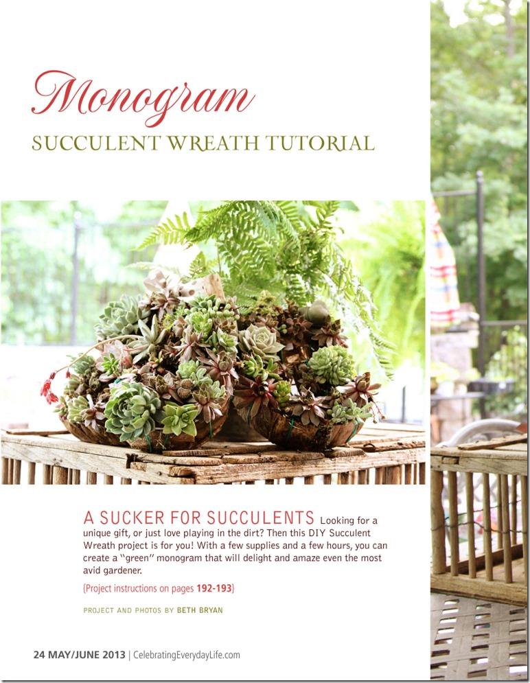 Succulent Wreath article