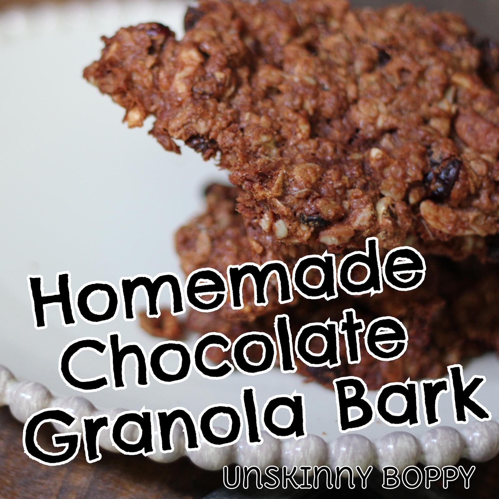 homemade granola bark