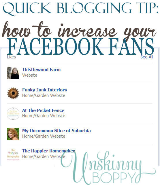 how to increase your facebook fans