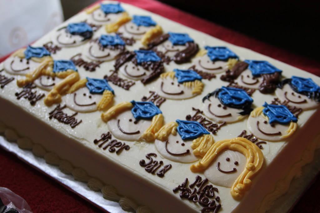 Cute Kindergarten or preschool graduation cake idea