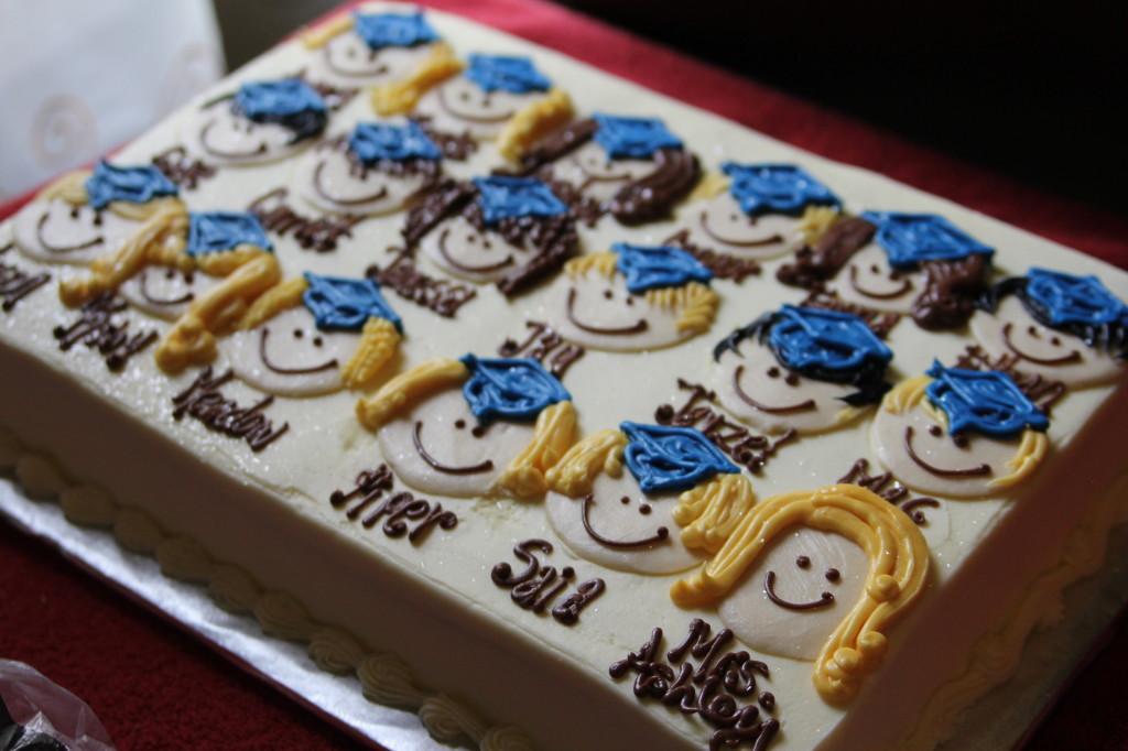 Cute Kindergarten or preschool graduation cake idea