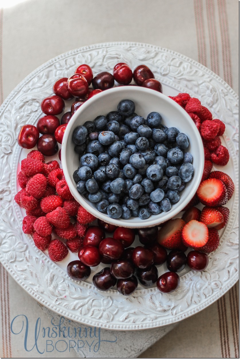 Patriotic Fruit Plate for the Fourth of July