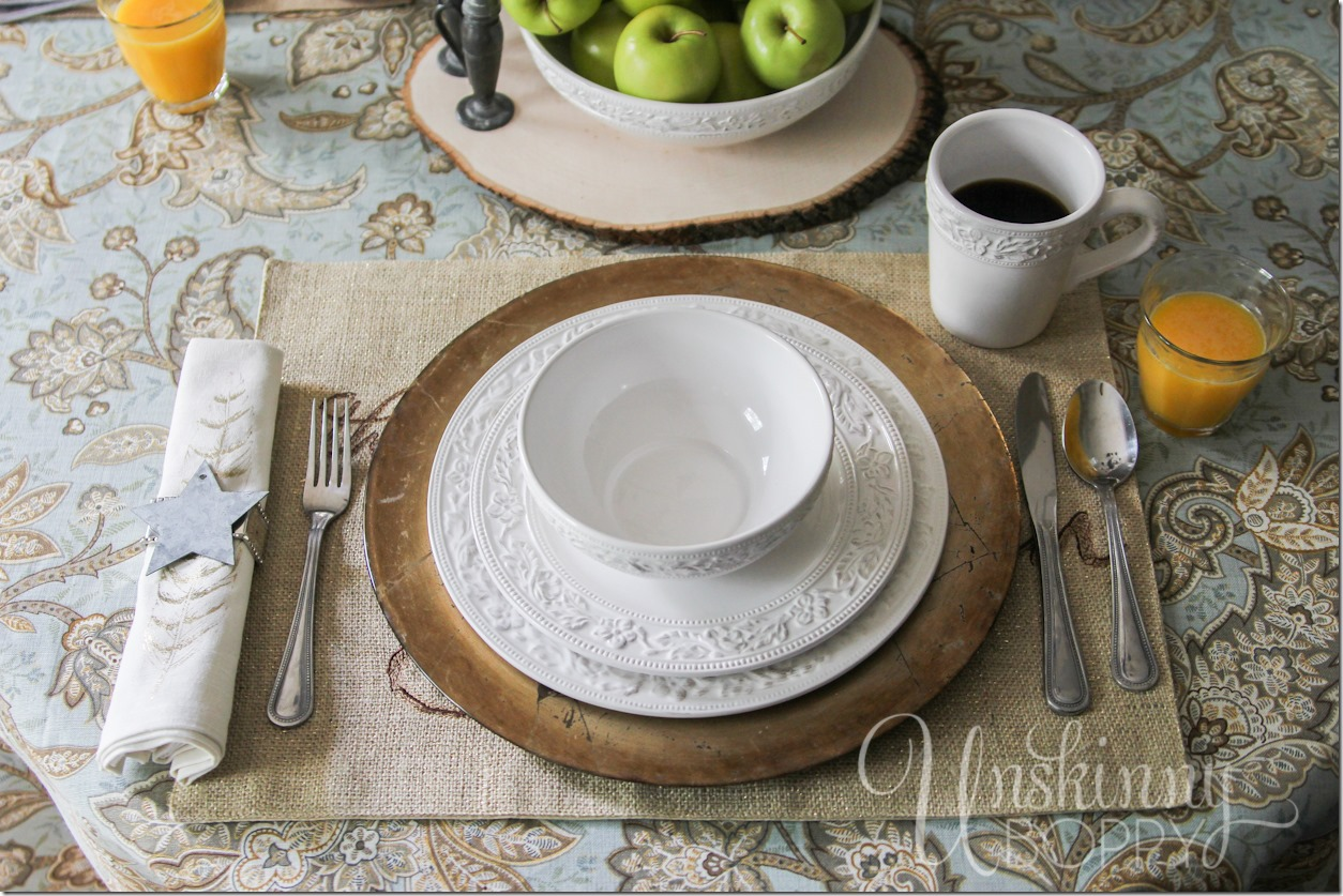 Pfaltzgraff Country Cupboard place settings GIVEAWAY.  Click to enter!