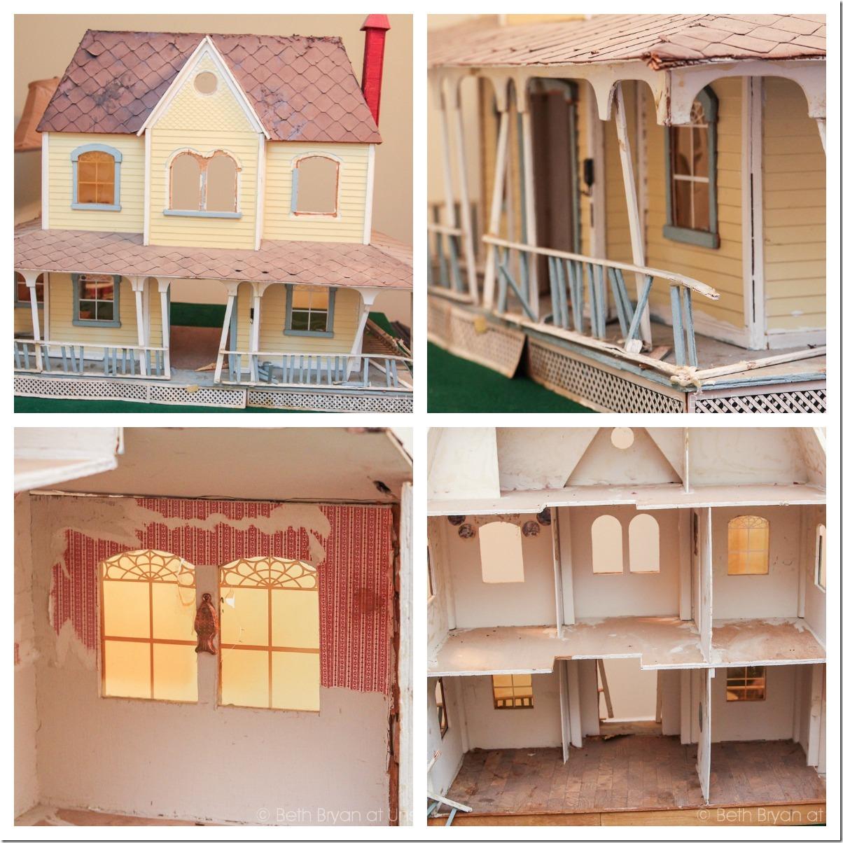 Dollhouse restoration collage