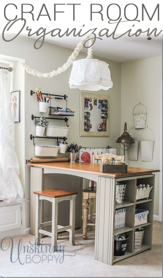 Craft Room Organization Ideas on Project Table
